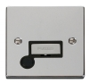 Click Ingot VPCH Polished Chrome 13 Amp Fused Spur Plates with Black Surround