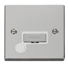 Click Ingot VPCH Polished Chrome 13 Amp Fused Spur Plates with White Surround