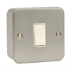 Click CL011 10 Amp 1 Gang 2 Way Surface Metal Clad Switch