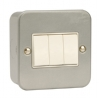 Click CL013 10 Amp 3 Gang 2 Way Surface Metal Clad Switch