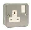 Click CL035 13 Amp 1 Gang Surface Metal Clad Switched Socket