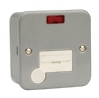 Click CL053 13 amp Surface Metal Clad Unswitched Fused Spur Unit with Neon