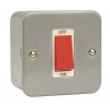 Click CL200 45 Amp Single Double Pole Surface Metal Clad Switch