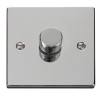 Click VPCH Polished Chrome 400 Watt 2 Way Rotary Dimmer Switches