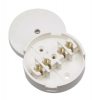 Click WA074 20 Amp 4 Terminal 80mm Round White Junction Box