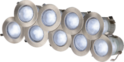 ML Knightsbridge KIT16W 10 x White LED IP65 Recessed Stainless Steel Lighting Kit