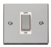 Click Ingot VPCH Polished Chrome 20 amp and 45 amp DP Switches with White Surround