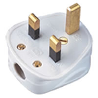 13 Amp Nylon Plug Top with Cable Clamp