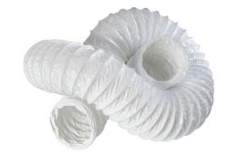 "4"" 100mm White PVC Flexible Ducting"