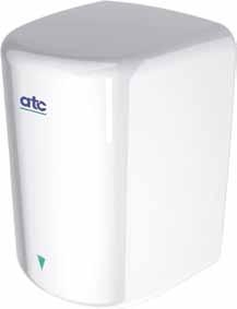 ATC ZA01 Panther 350 / 1550W Automatic White Porcelain Enameled High Speed Hand Dryer