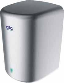 ATC ZA05 Panther 350 / 1550W Automatic Matt Stainless Steel High Speed Hand Dryer