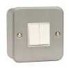 Click CL012 10 Amp 2 Gang 2 Way Surface Metal Clad Switch