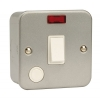 Click CL023 20 Amp 1 Gang DP Surface Metal Clad Switch with Neon