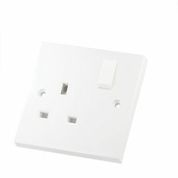 Economy 13 Amp 1 Gang and  2 Gang PVC Sockets