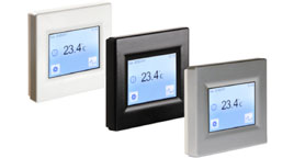 Flexel ET16W ET16S & ET16B Touch Screen Thermostat for Underfloor Heating in White, Silver or Black