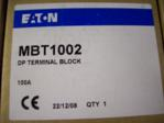 MEM Eaton MBT1002 100amp DP Din Rail Connection Block